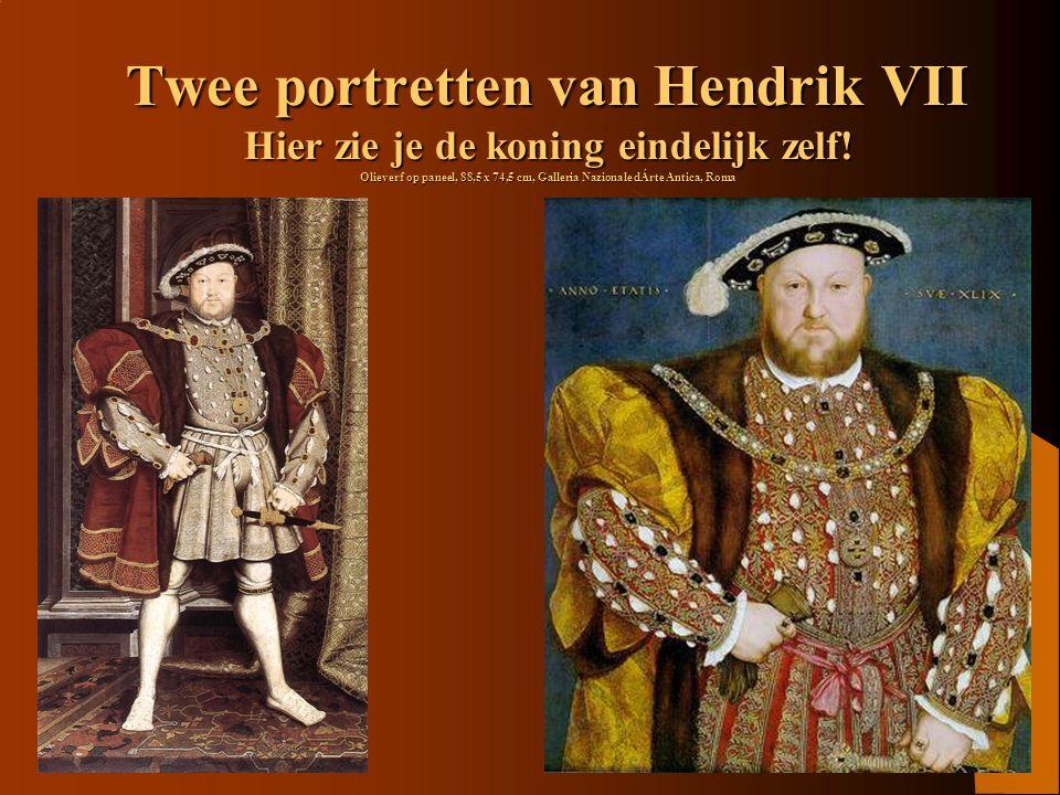 Twee portretten van Hendrik VII Hier zie je de koning eindelijk zelf