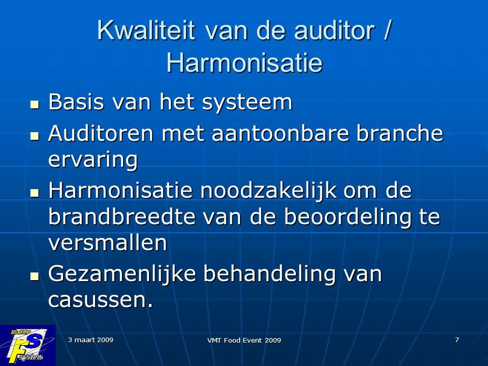 Kwaliteit van de auditor / Harmonisatie