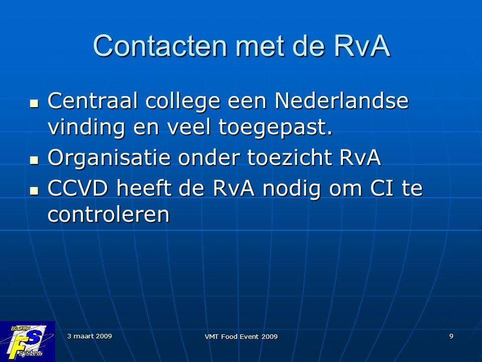 Contacten met de RvA Centraal college een Nederlandse vinding en veel toegepast. Organisatie onder toezicht RvA.