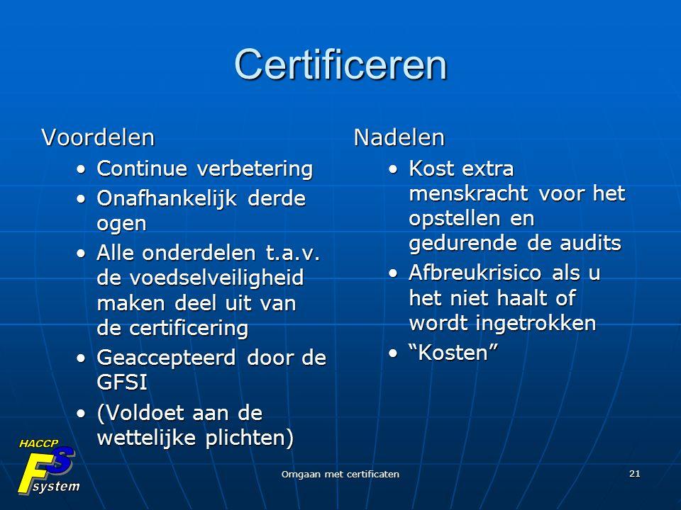 Omgaan met certificaten