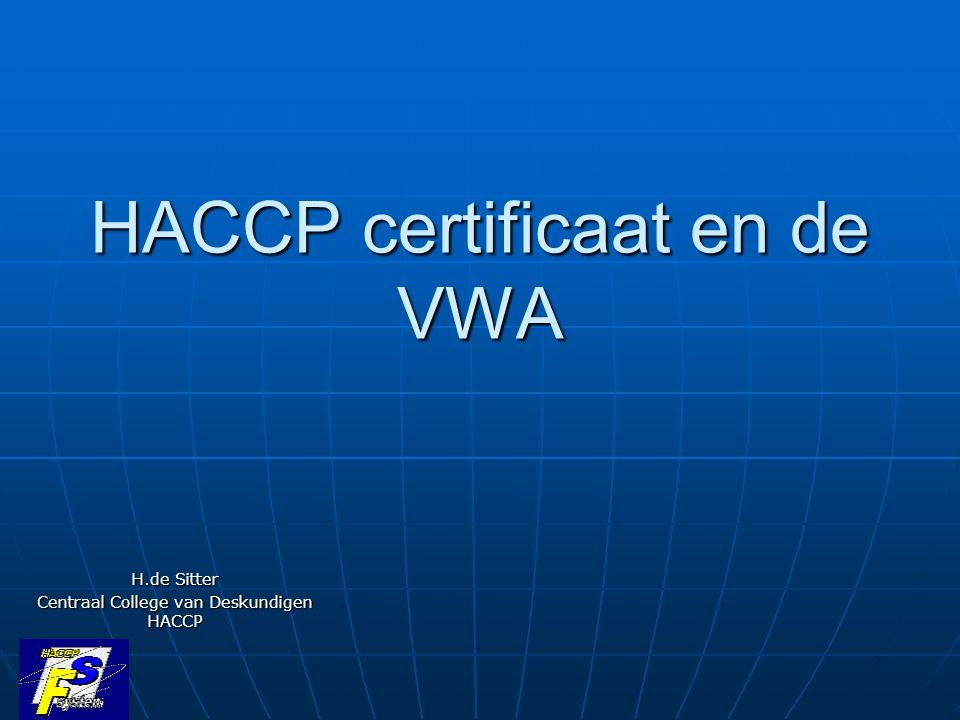 HACCP certificaat en de VWA