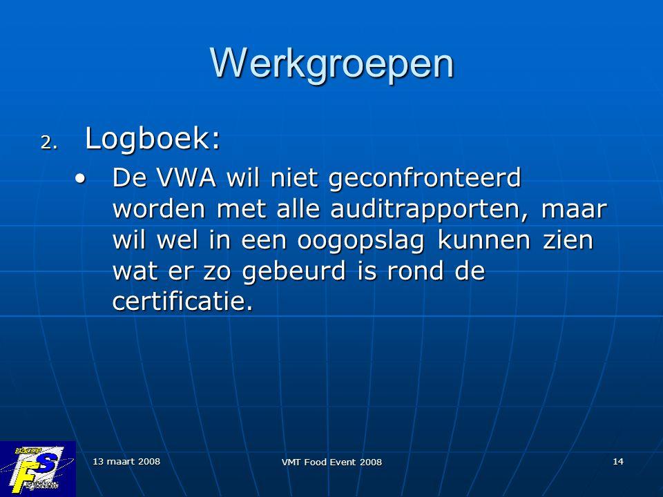 Werkgroepen Logboek:
