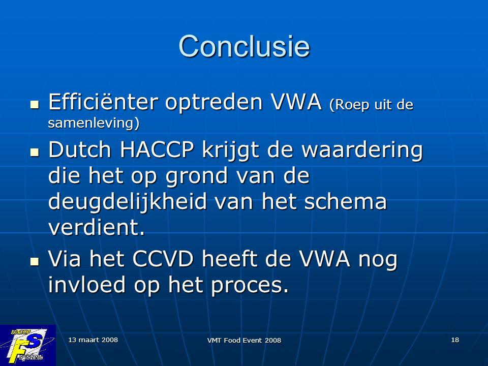 Conclusie Efficiënter optreden VWA (Roep uit de samenleving)