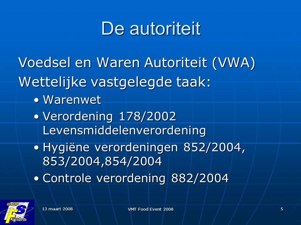 De autoriteit Voedsel en Waren Autoriteit (VWA)