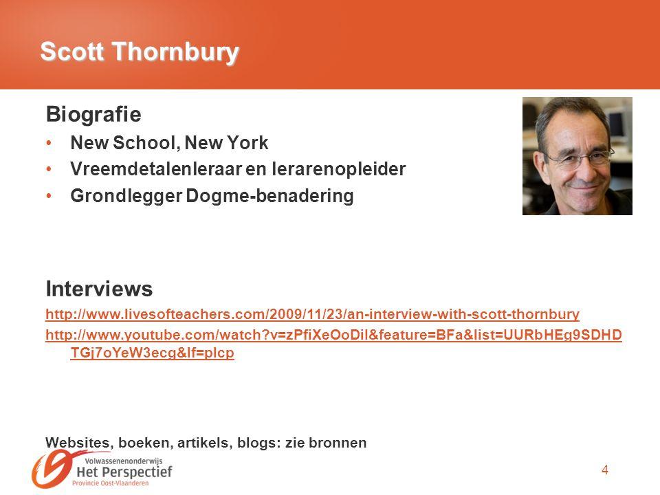 Scott Thornbury Biografie Interviews New School, New York
