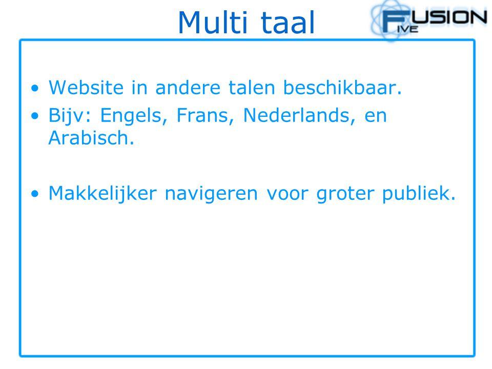 Multi taal Website in andere talen beschikbaar.