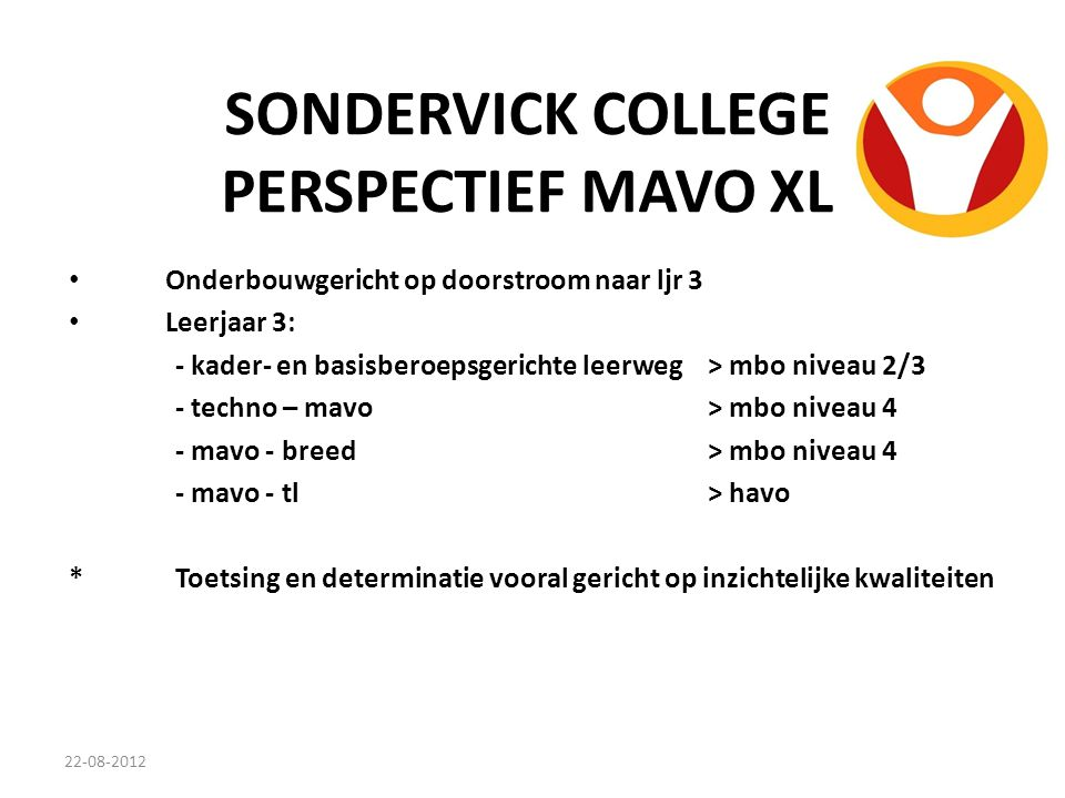 SONDERVICK COLLEGE PERSPECTIEF MAVO XL