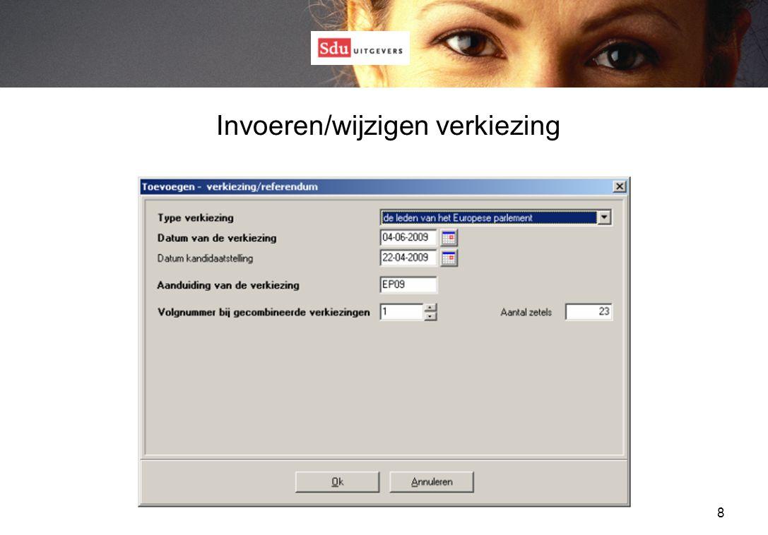 Hoofdscherm met formulieren - tabblad