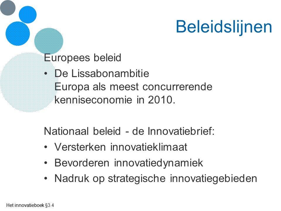 Beleidslijnen Europees beleid
