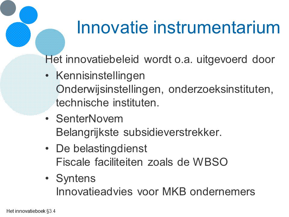 Innovatie instrumentarium