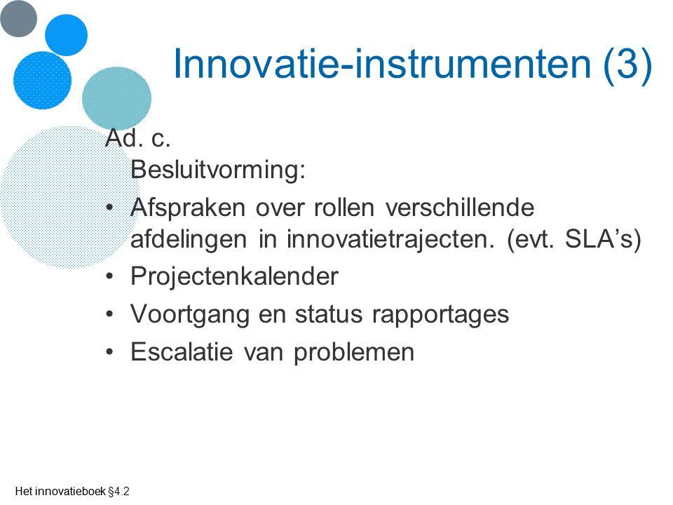 Innovatie-instrumenten (3)