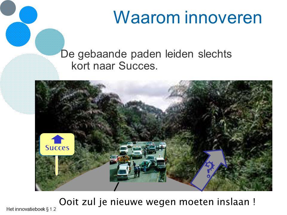 Waarom innoveren De gebaande paden leiden slechts kort naar Succes.