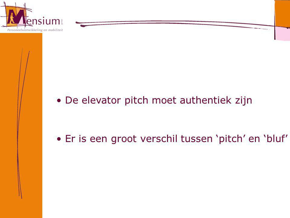 De elevator pitch moet authentiek zijn