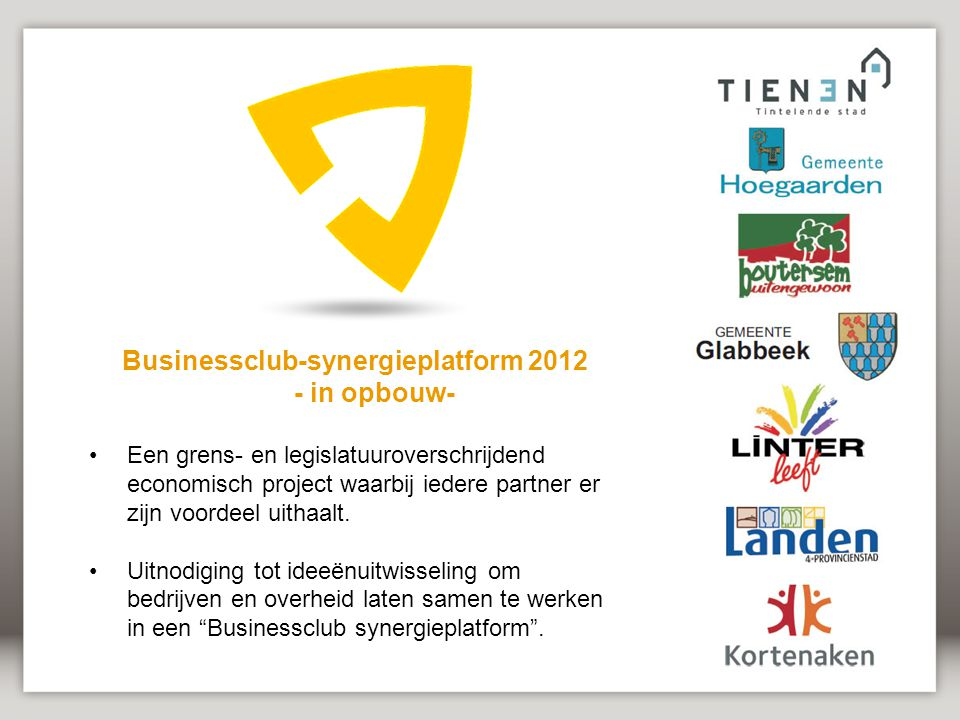 Businessclub-synergieplatform 2012 - in opbouw-