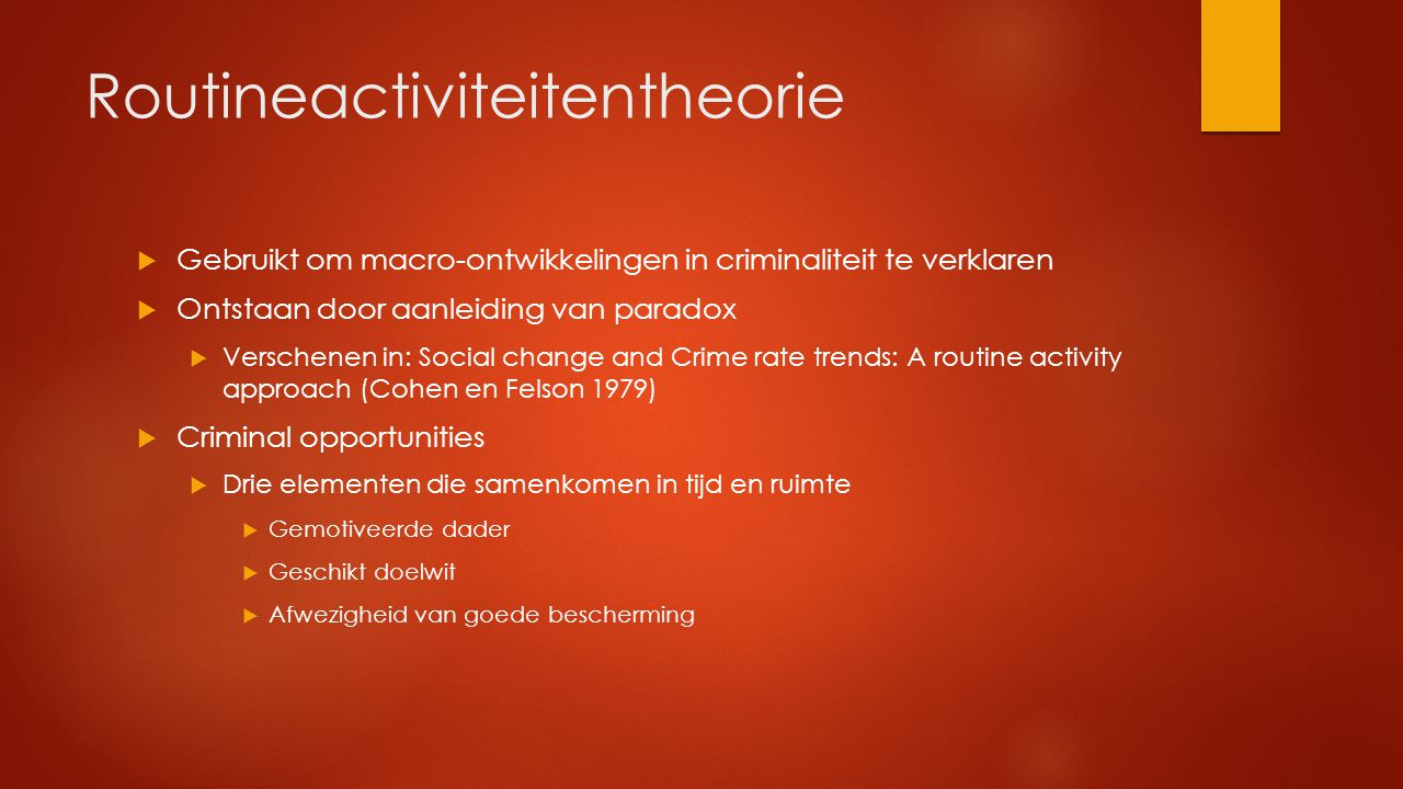 Routineactiviteitentheorie