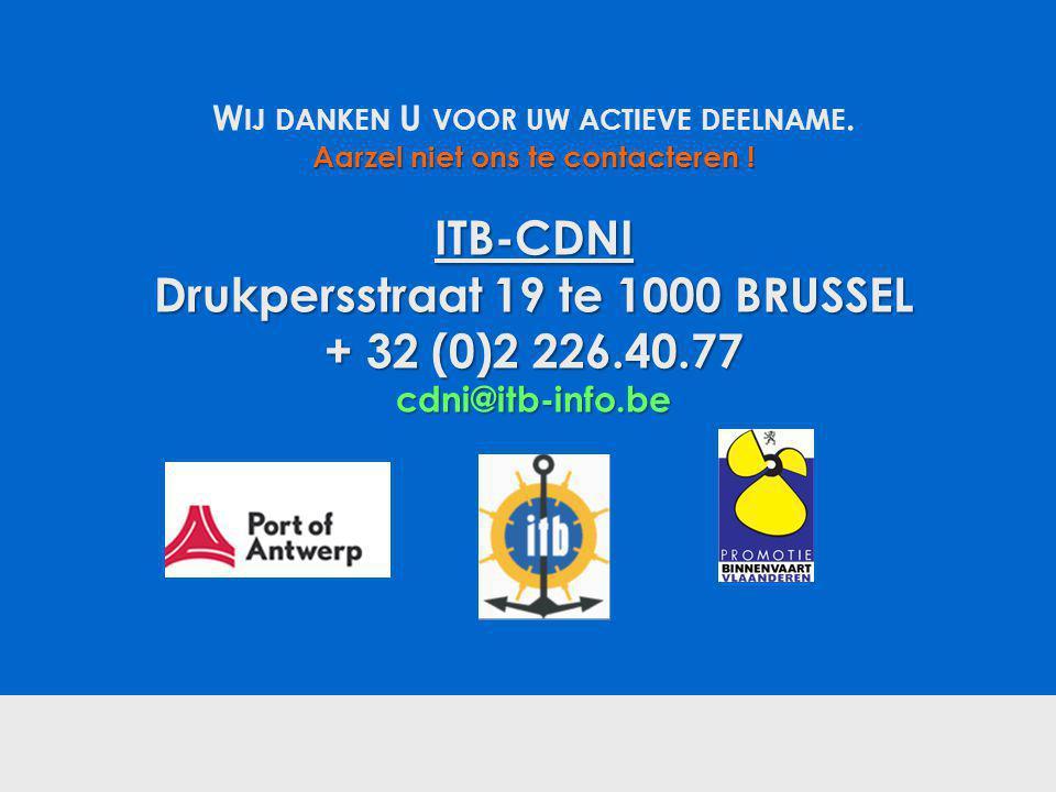 ITB-CDNI Drukpersstraat 19 te 1000 BRUSSEL + 32 (0)2 226.40.77