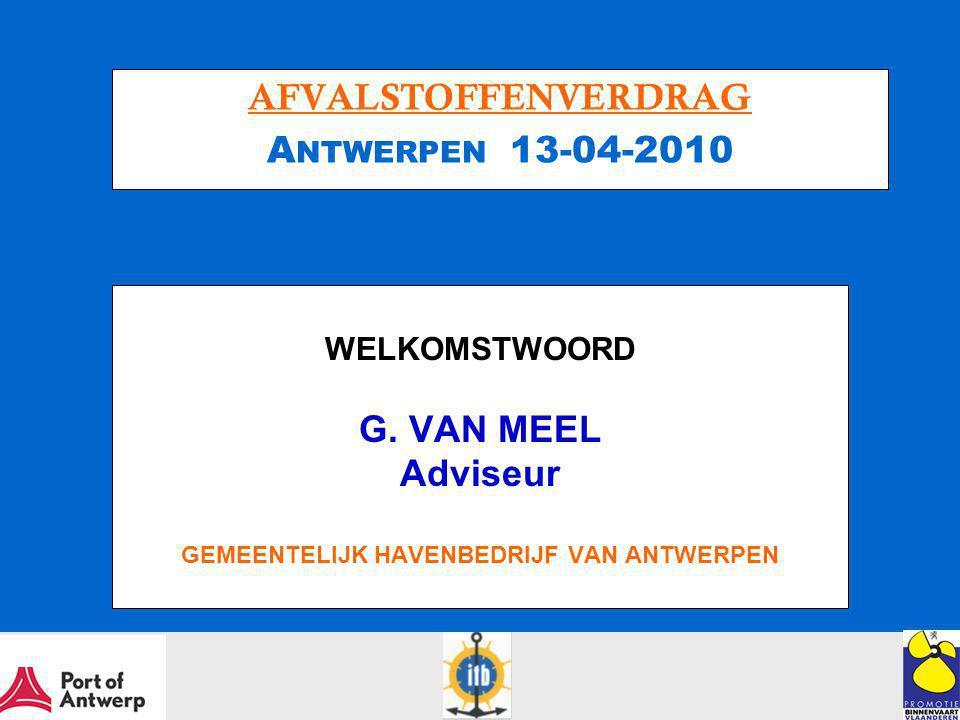 AFVALSTOFFENVERDRAG Antwerpen 13-04-2010