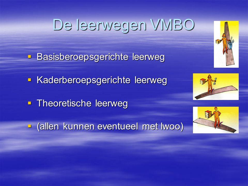 De leerwegen VMBO Basisberoepsgerichte leerweg