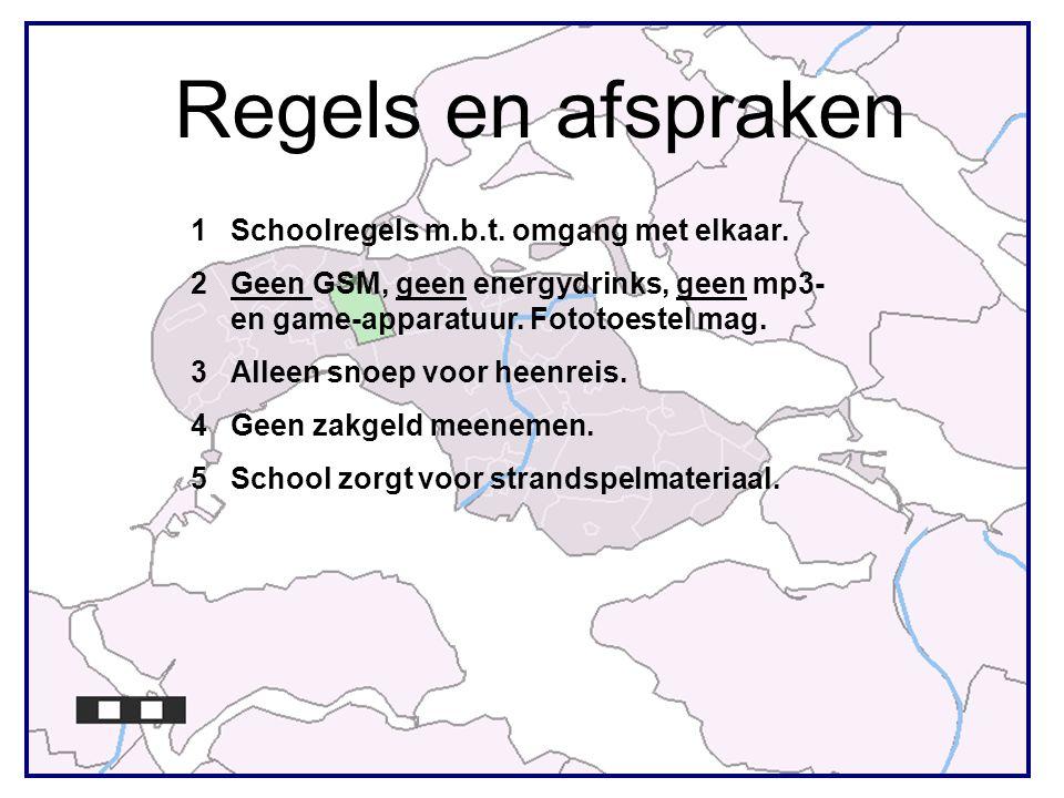 Regels en afspraken Schoolregels m.b.t. omgang met elkaar.