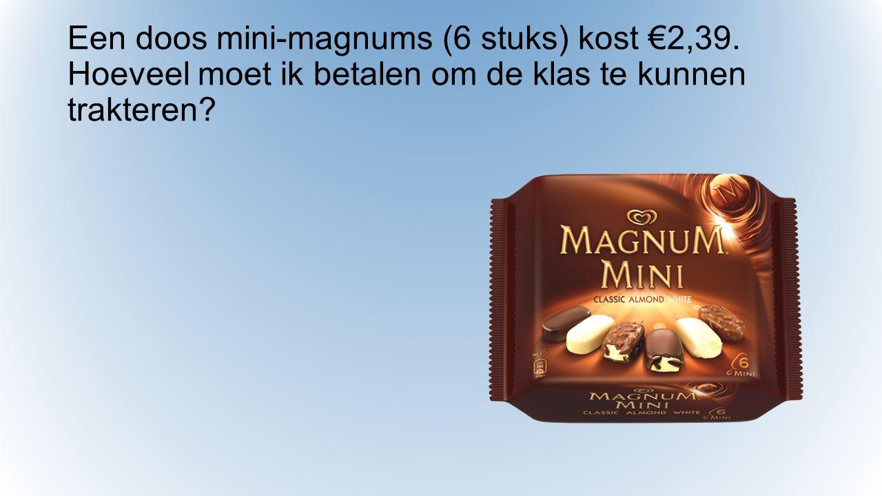 Een doos mini-magnums (6 stuks) kost €2,39