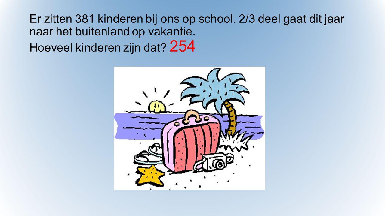Er zitten 381 kinderen bij ons op school