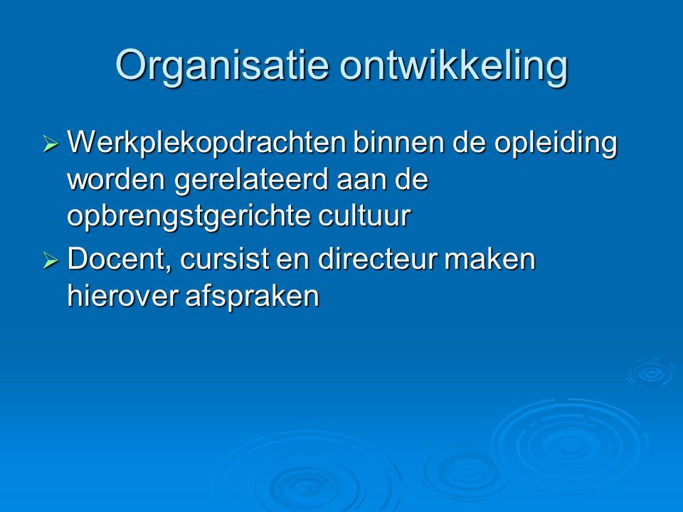 Organisatie ontwikkeling