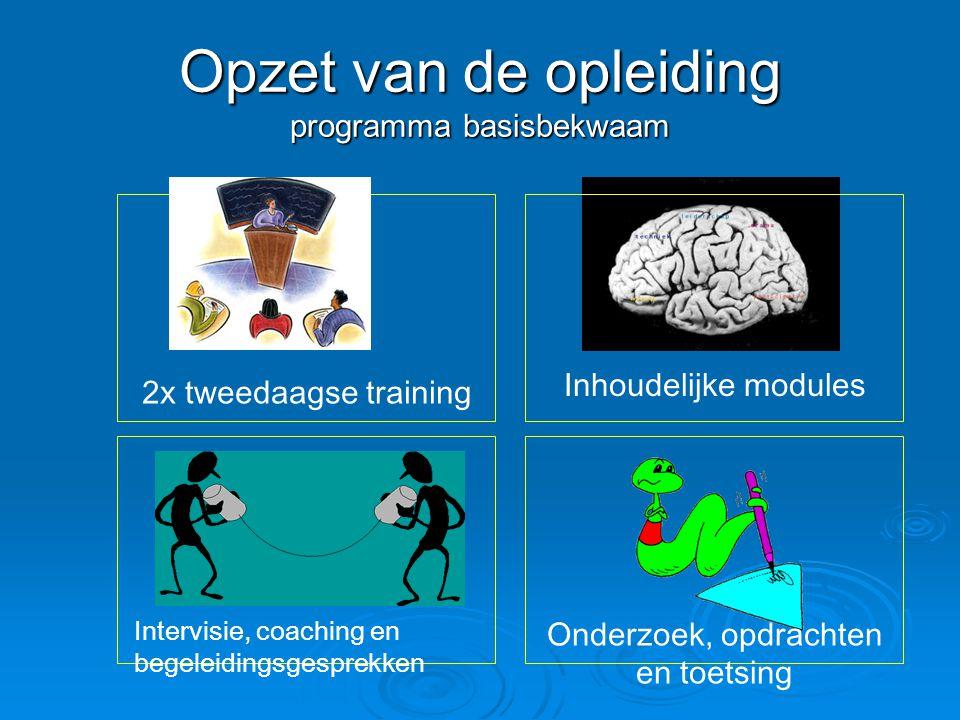 Opzet van de opleiding programma basisbekwaam