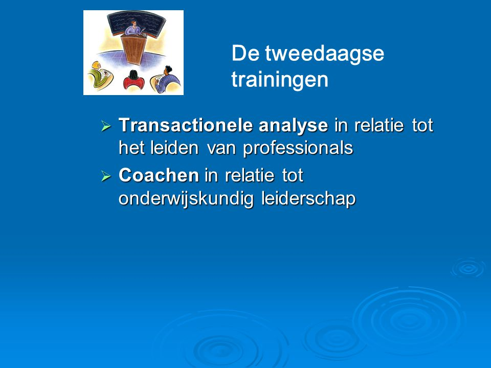 De tweedaagse trainingen