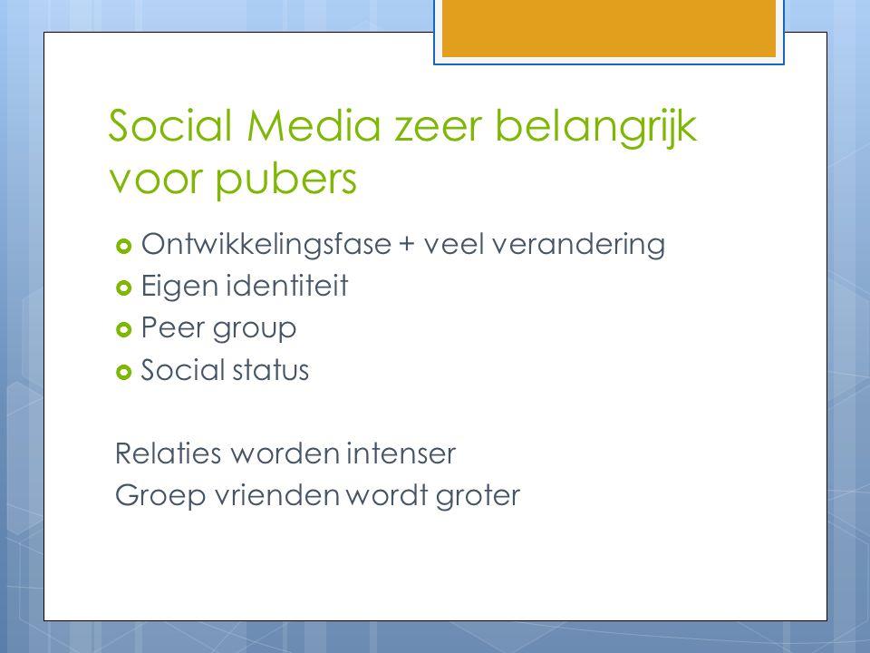Social Media zeer belangrijk voor pubers