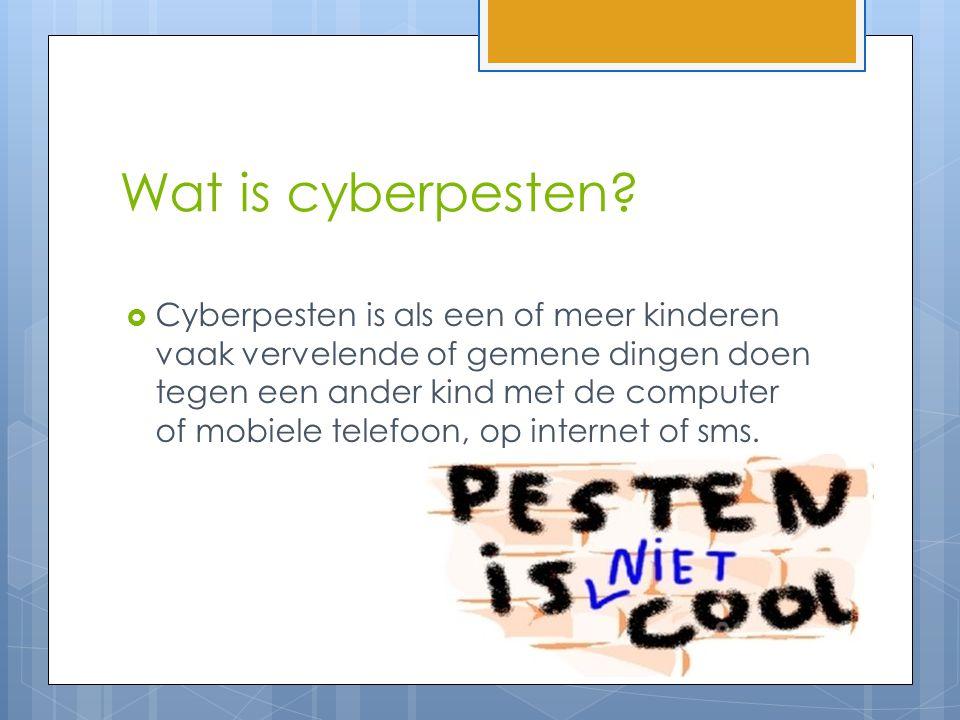 Wat is cyberpesten