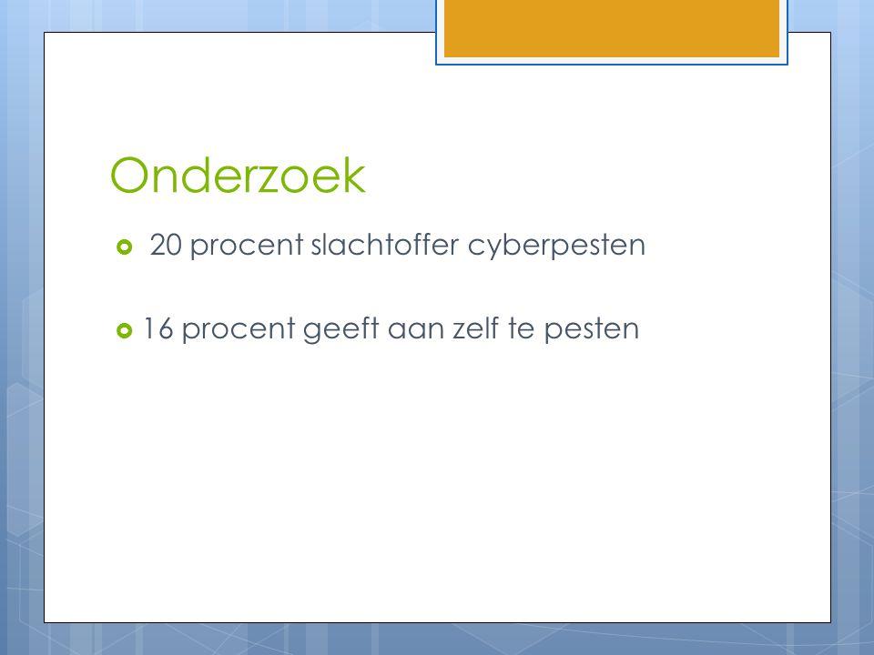 Onderzoek 20 procent slachtoffer cyberpesten