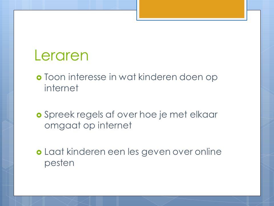 Leraren Toon interesse in wat kinderen doen op internet