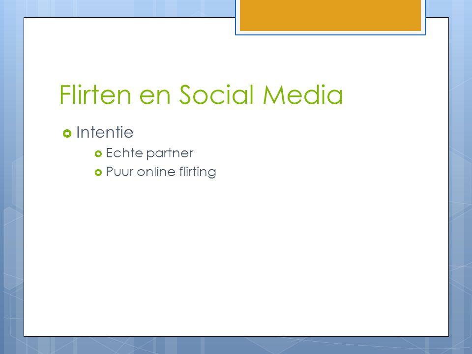 Flirten en Social Media