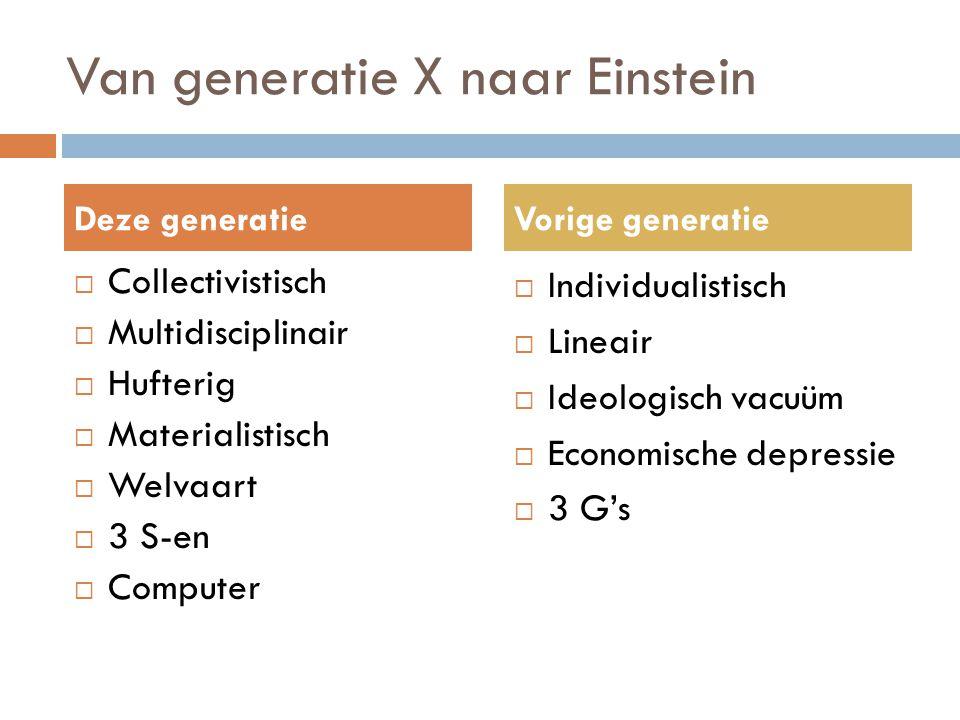 Van generatie X naar Einstein