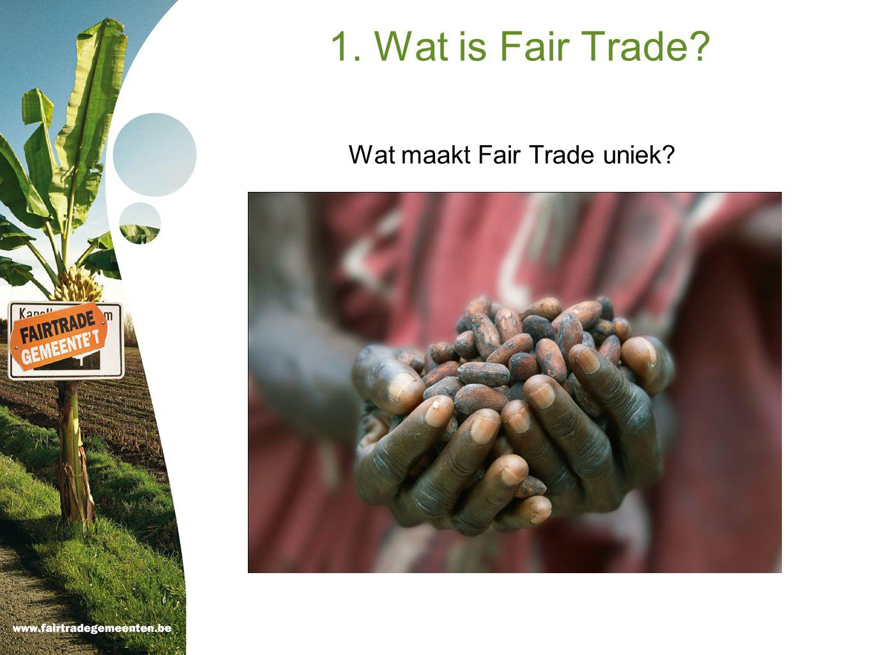 Wat maakt Fair Trade uniek