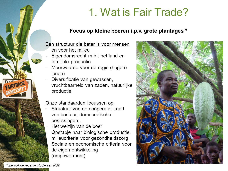 Focus op kleine boeren i.p.v. grote plantages *