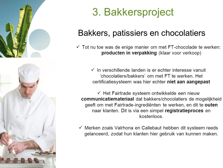 Bakkers, patissiers en chocolatiers