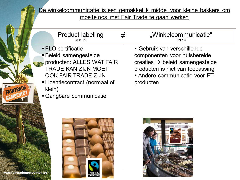 "≠ Product labelling ""Winkelcommunicatie"
