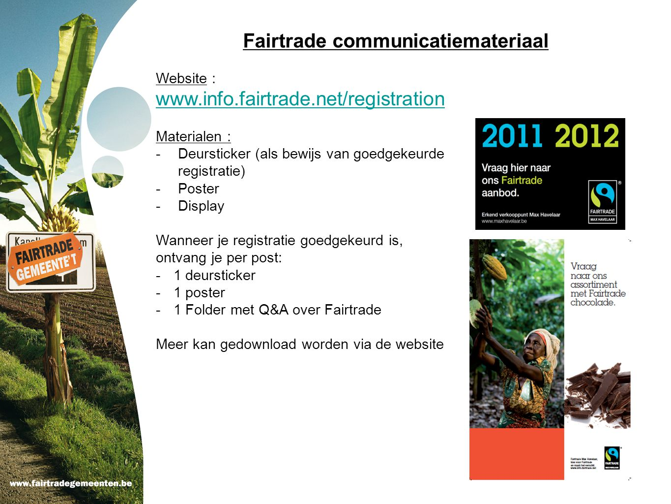 Fairtrade communicatiemateriaal