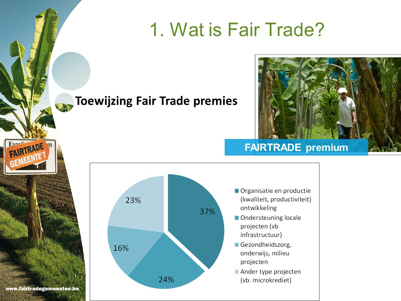 Toewijzing Fair Trade premies