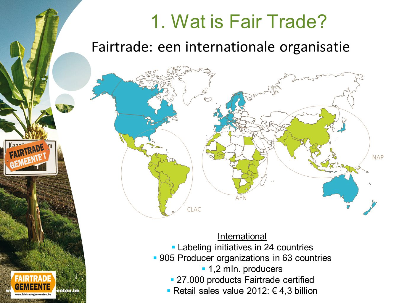 Fairtrade: een internationale organisatie