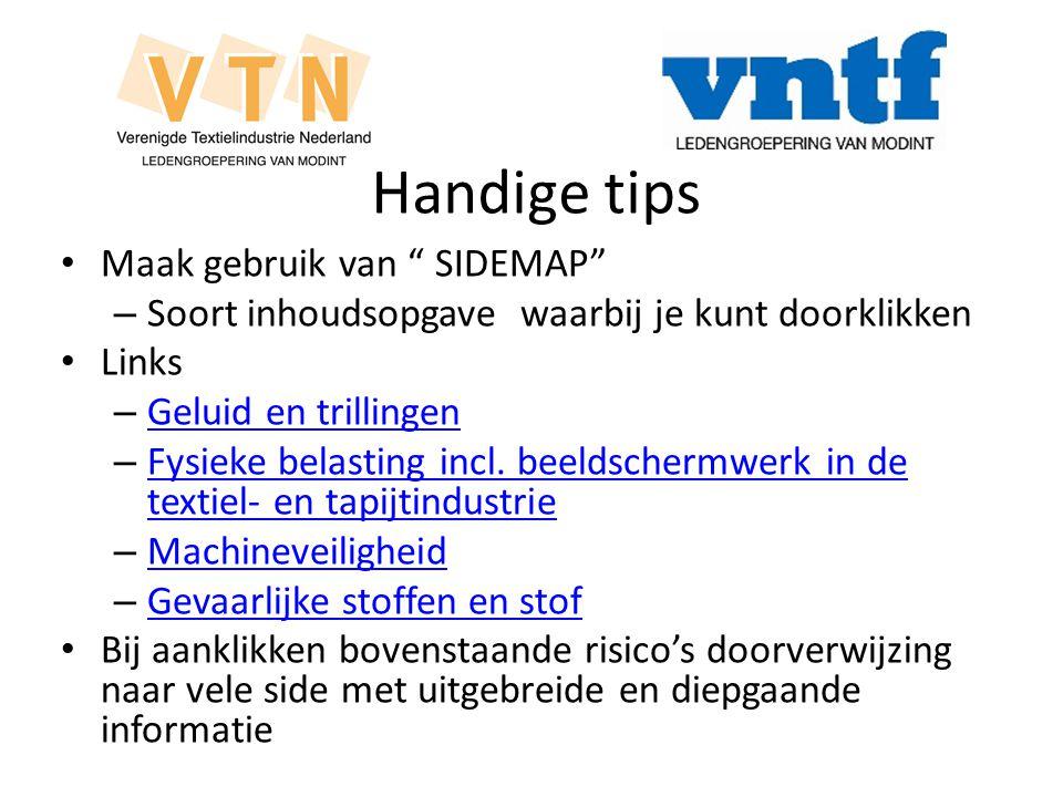 Handige tips Maak gebruik van SIDEMAP