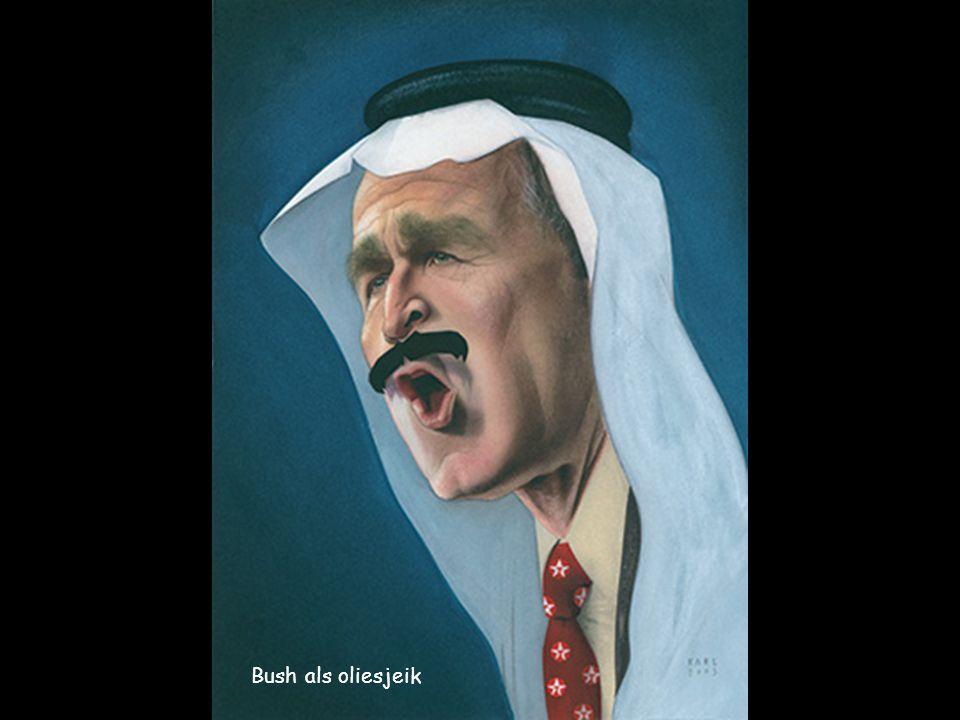 Bush als oliesjeik