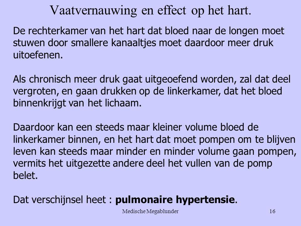 Vaatvernauwing en effect op het hart.