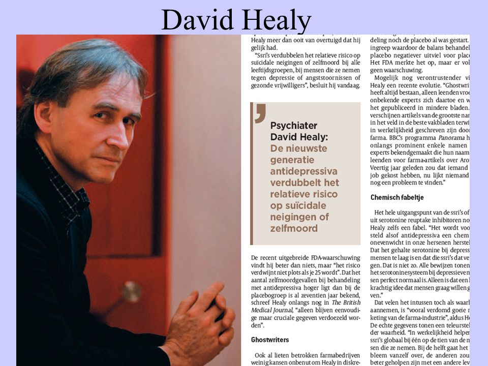 David Healy Medische Megablunder