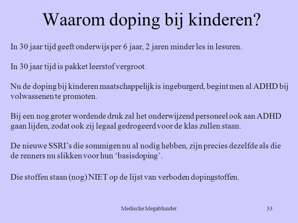 Waarom doping bij kinderen
