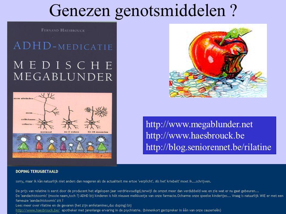 Genezen genotsmiddelen