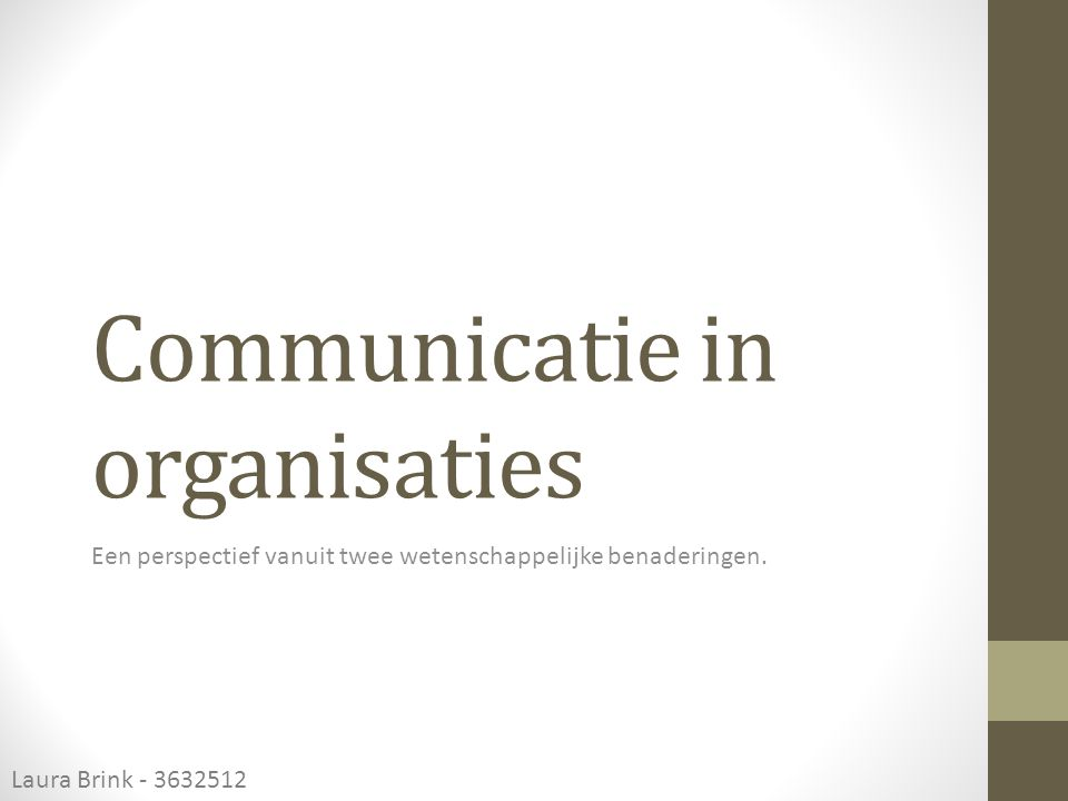 Communicatie in organisaties