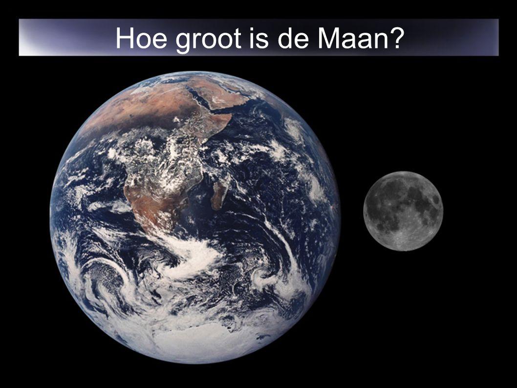 Hoe groot is de Maan