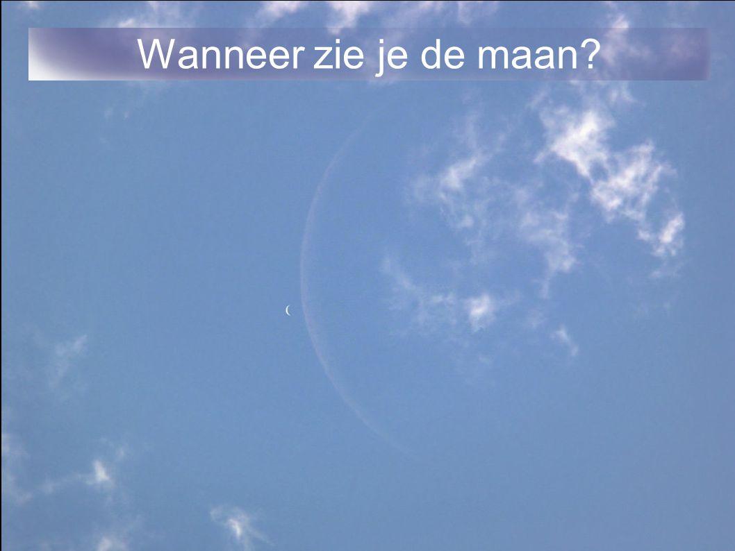 Wanneer zie je de maan